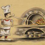 lange große Pizzaschaufel